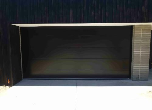 Black Insulated Garage Door - Thermoflat