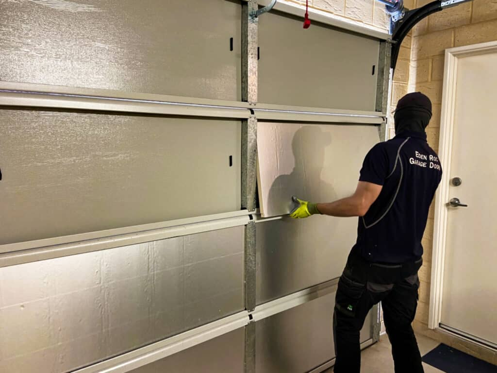 Retro Fitted Insulated Doors Installation