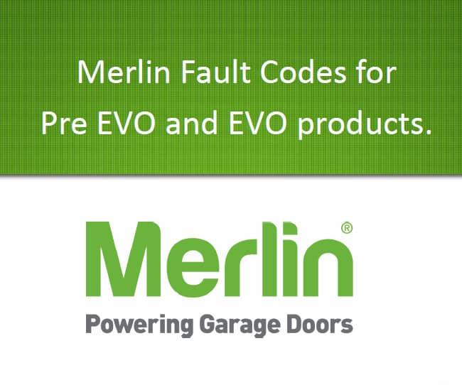 Merlin Fault Codes